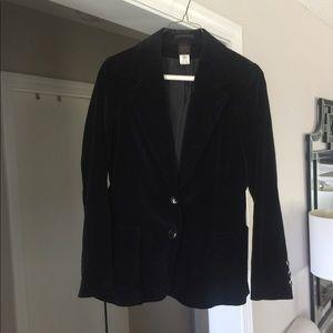 Jackets & Blazers - Black velvet blazer, size 5/6